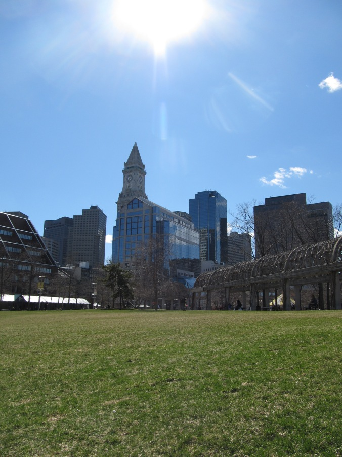 View from Christopher Columbus Park. Photo By Colleen Ann.