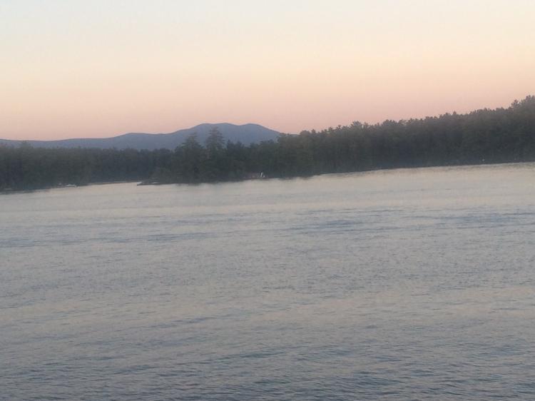 Evening from the 3rd Deck. Winnipesaukee. Photo By Colleen Ann.