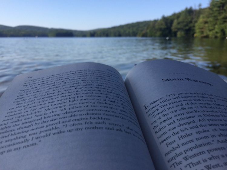 Reading By the Lake. Photo By Colleen Ann.